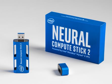 Intel Neural Compute Stick 2 (NCS2) Deep Neural Network USB Dongle NCSM2485.DK