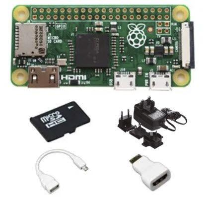 Canakit Raspberry Pi Zero W 16GB Bluetooth, GPIO, MicroSD Card, USB, WiFi Starter Kit PI-ZERO-U-K108