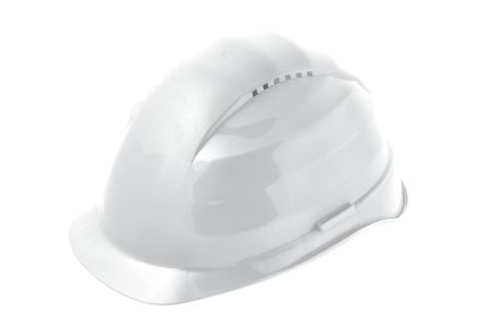 Alpha Solway Rockman White Polyethylene Vented Hard Hats