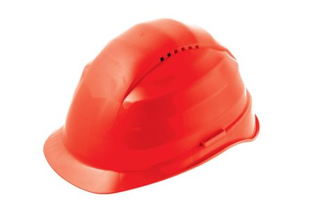 Rockman Red Polyethylene Vented Hard Hat product photo