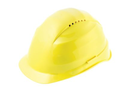 Alpha Solway Rockman Yellow Hard Hats, Ventilated