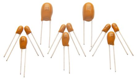 RS PRO Tantalum Electrolytic Capacitor 150nF 35V dc Electrolytic Solid ±20% Tolerance