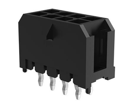 Amphenol FCI Minitek 10132450, 2 Way, 2 Row, Vertical PCB Header