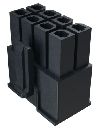 10142707-04LF - Male Connector Housing - MINITEK, 5.7mm Pitch, 4 Way, 2 Row product photo