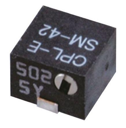 100kΩ, SMD Trimmer Potentiometer 0.25W Side Adjust Copal Electronics, SM-42