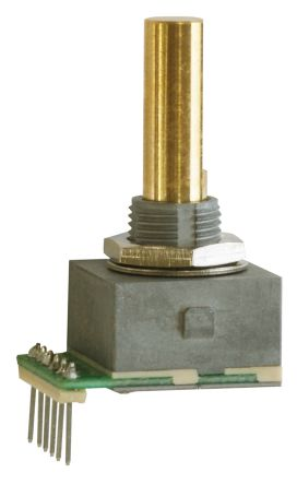 Copal Electronics 5V dc 25 Pulse Optical Encoder with a 6 mm Flat Shaft, Through Hole, Wire Lead