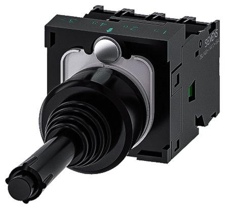 Siemens, 3SU1100-7BE10-1QA0, Joystick Switch Round, 5 <arrow/> 500V ac/dc
