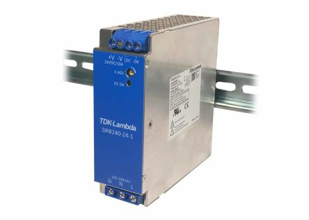 TDK-Lambda, DRB120-480 DIN Rail Panel Mount Power Supply, 24V dc Output Voltage, 10A Output Current