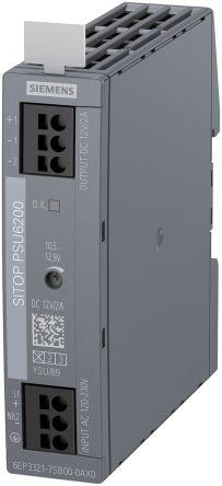 Power Supply, 1 PH, AC-DC, 12V, 2A, 120-230VAC/120-240VDC In, DIN Rail, PSU6200