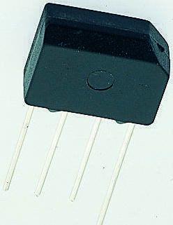 Taiwan Semiconductor KBP203G C2, Bridge Rectifier, 2A 200V, 4-Pin KBP
