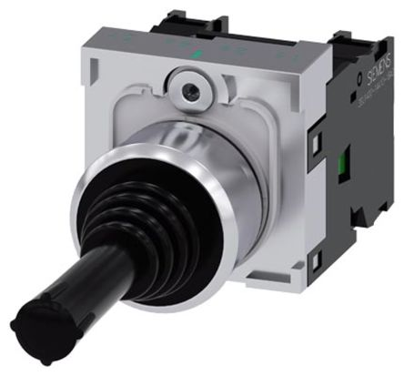 Siemens, 3SU1150-7AC88-1NA0, 2 Way Joystick Switch Round, Momentary, IP20, IP65, IP67 Rated, 500V ac/dc