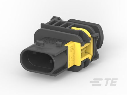 TE Connectivity HDSCS Series, 1 Row 2 Way IP67, IP6K9K In-Line Mount Socket Tab Housing