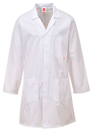 RS PRO White Unisex Reusable Lab Coat, S