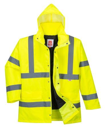 RS PRO Yellow Unisex Hi Vis Jacket, L