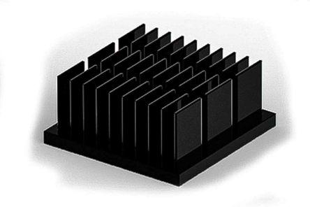 Heatsink, Universal Square Alu, 25 x 25 x 11mm