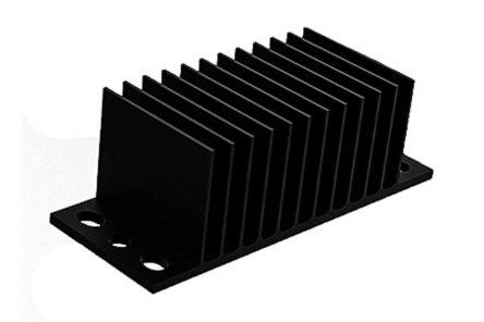 Heatsink, 1/8 Brick DC/DC Converter, 62 x 25 x 20mm