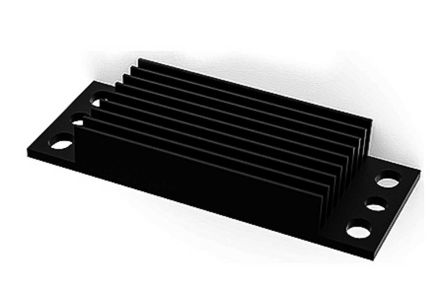 Heatsink, Fits Industry Standard Brick Size DC-to-DC Modules, 62 x 25 x 10mm