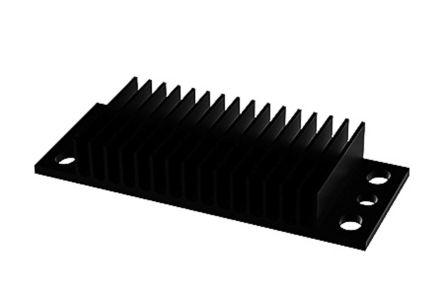 Heatsink, 1/8 Brick DC/DC Converter, 62 x 25 x 10mm