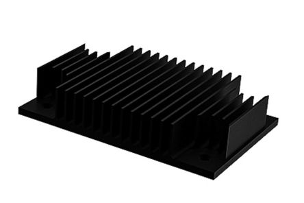 Heatsink, 1/4 Brick DC/DC Converter, 62 x 40 x 13mm