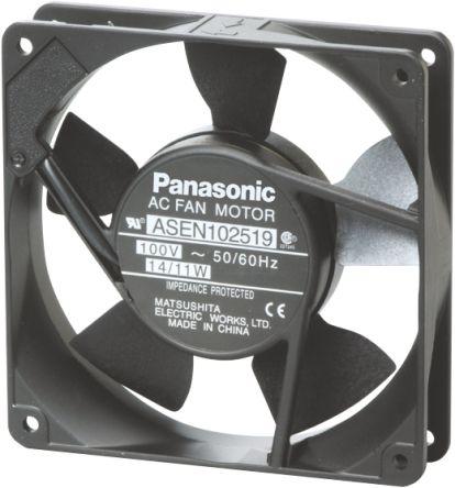 Panasonic, 230 V ac, ac Axial Fan, 119 x 119 x 25mm, 2m³/min, 11W