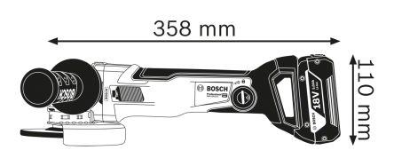Bosch GWX 18 125mm Cordless Angle Grinder, UK Plug