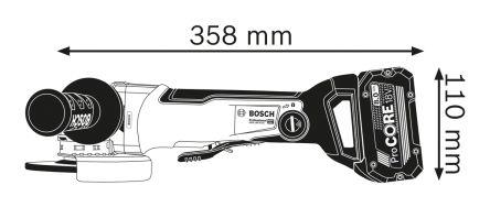 Bosch GWX 18 V-10 SC UK 125mm Cordless Angle Grinder, UK Plug