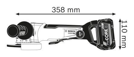 Bosch GWX 18 V-10 PSC 125mm Cordless Angle Grinder, UK Plug
