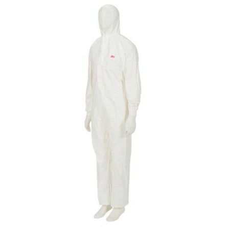 4520 COVERALL WHITE+GREEN TYPE 5/6 M