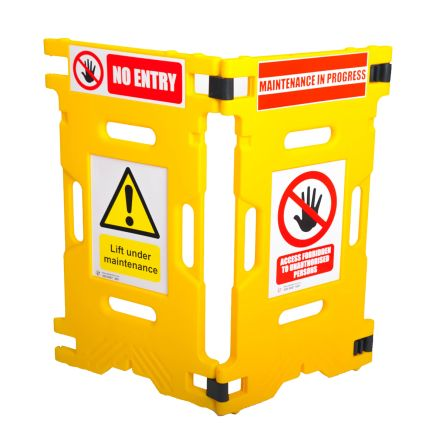 Addgards Yellow No Entry Barrier, 1.1m x 660mm.