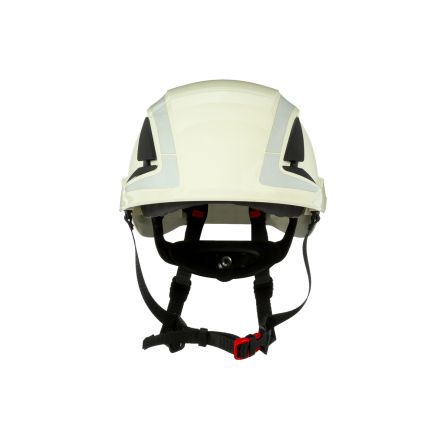 SecureFit™ Adjustable White Hard Hat with Chin Strap, Ventilated
