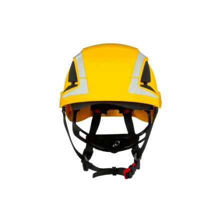 SecureFit™ Adjustable Yellow Hard Hat with Chin Strap, Ventilated