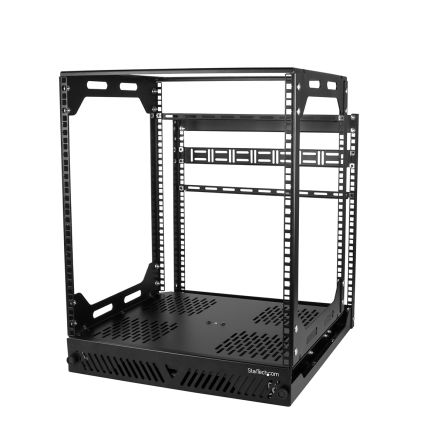 12U Server Rack With Steel 4-Post Frame in
