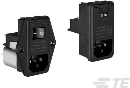TE Connectivity, Corcom L 6A 120 V ac, 240 V ac 50/60Hz Power Line Filter
