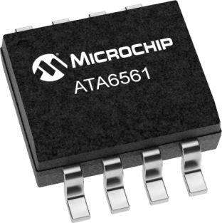 Microchip ATA6561-GAQW-N, CAN Transceiver 5Mbit/s 1-Channel, 8-Pin SOIC
