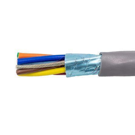 Alpha Wire 8 Core Aluminium Foil Industrial Cable, Grey
