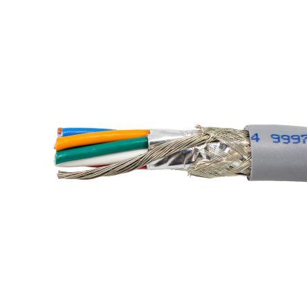 Alpha Wire 9 Core Aluminium Foil Industrial Cable, Grey