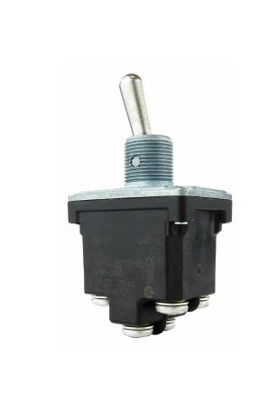 Honeywell DPDT Toggle Switch, (On)-Off-On, IP67, IP68, Panel Mount