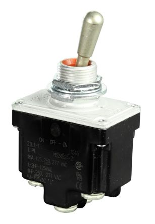 Honeywell DPDT Toggle Switch, (On)-On, Panel Mount