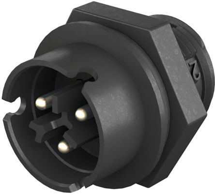 Wieland RST 08i2/3 Series, Male 2 Pole Male Connector, Panel Mount, Rated At 8A, 250 V, 400 V