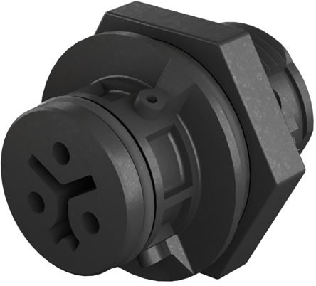 Wieland RST 08i2/3 Series, Female 3 Pole Female Connector, Panel Mount, Rated At 8A, 250 V, 400 V