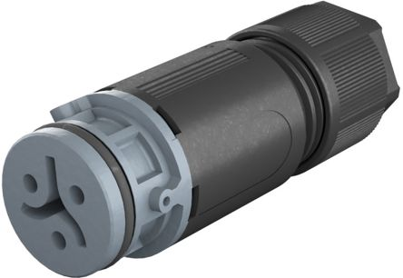 Wieland RST 08i2/3 Series, Female 3 Pole Female Connector, Cable Mount, with Strain Relief, Rated At 8A, 50 V, 120 V