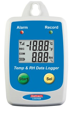 Sefram LOG 1620 Temperature Data Logger, Maximum Temperature Measurement +85 °C, USB, Battery Powered, LCD Display, IP65