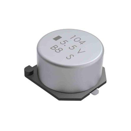 KEMET 0.22F Supercapacitor -20 → +80% Tolerance FCS Series 5.5V dc Surface Mount