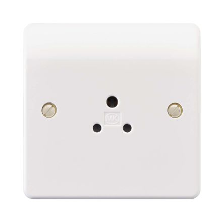 MK Electric White 1 Gang Electrical Socket, 2A, BS 546