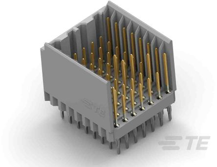 TE Connectivity Z-PACK HM Series 2mm Pitch Hard Metric Backplane Connector, Male, Vertical, 8 Column, 5 Row, 40 Way