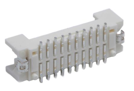 Hirose, DF13, 20 Way, 2 Row, Straight PCB Header