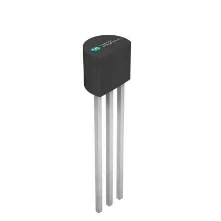 Maxim Integrated DS18B20+T&R, Digital Temperature Sensor -55 → +125 °C ±0.5°C Serial-1 Wire, 3-Pin TO-92