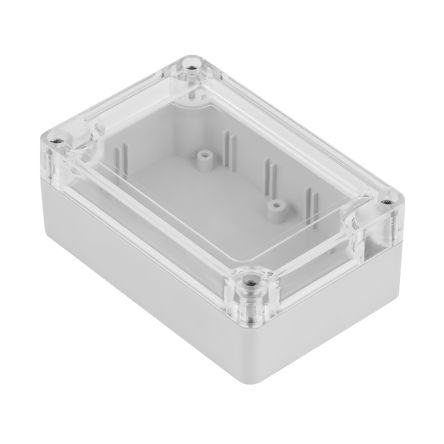 RS PRO ABS, Polycarbonate Enclosure, IP68, 105 x 70 x 40mm Light Grey
