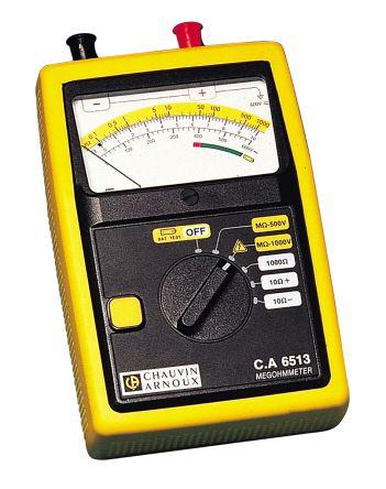 Model CA 6513 Ohm Meter, Maximum Resistance Measurement +10 O, 1000 MO, 1000 O product photo