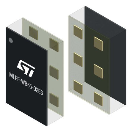 STMicroelectronics MLPF-WB55-01E3, RF Transceiver 2400MHz to 2500MHz 6-Pin Bumpless CSP